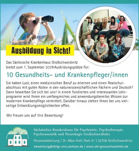 Berufsausbildung Sächsisches Krankenhaus Großschweidnitz